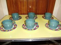Cups and soucers by Signature, set of 6, perfect condition, as NEW