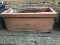 Terracotta planter / window box