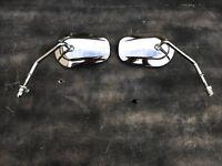 Harley Davidson chrome rear view mirror pair