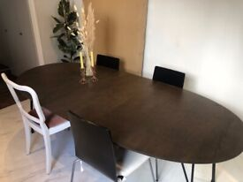 John Lewis Dining Table - extendable 6 to 8 people dark wood