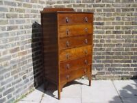 FREE DELIVERY Vintage Tall Boy/ Chest Of Drawers Retro Mid Century Furniture W