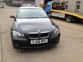 08 BMW 320 SE 70000MILES 6SPD IN BLACK MET WITH FULL LEATHER INTERIOR £5650