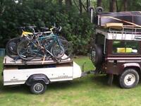 Bike carrying trailer