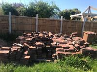 Used plain clay roof tiles