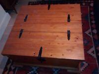 Pine storage trunk/coffee table