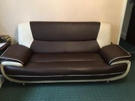 Leather sofa 3+2 seater