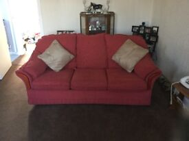 Sofa bed in good condition. Mattress still has plastic cover on it.