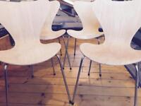 Fritz Hansen chairs / Teak & Ply