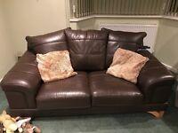 large 2 seater leather sofa £20