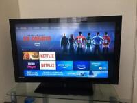 """Tecknika 40"""" tv full hd 1080p with remote good condition"""