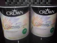 Two unused tins of emulsion
