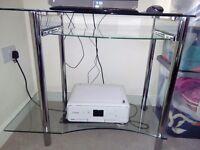 Glass & Chrome Computer Desk