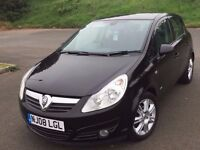 vauxhall corsa design 2008 1.4 petrol 5 door saloon with full mot