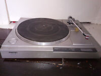 Vintage Sony Turntable, Cassette Player and Stereo Receiver