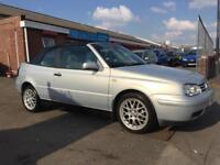 2000 VOLKSWAGEN GOLF CABRIOLET AVANT-GARDE *NEW 12 MONTH MOT* CAMBELT REPLACED VW CONVERTIBLE