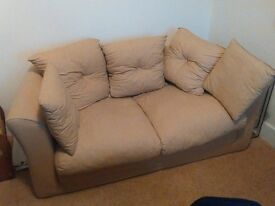 Small light beige sofa bed