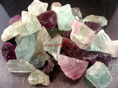 Natural FLUORITE  - 1000 CARAT Lots - Purple. Green, White, Pink Gemstone Rough