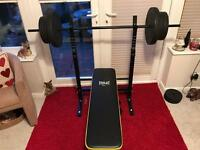 Everlast Folding Bench With 50kg Weights