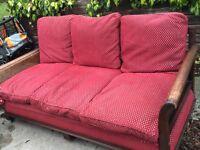 Antique Bergere 3 Piece Suite for Sale