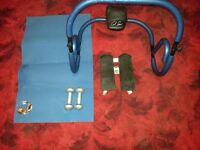 Abdominal Crunch/Roller - 1lb Dumbells- Air stepper Exercise Lot