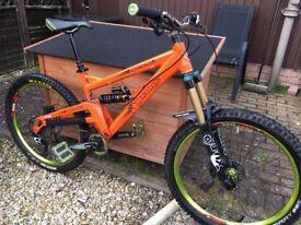 Orange alpine 160. orange five, orange 5, yeti,trek