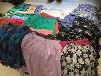Selection of ladies skirts