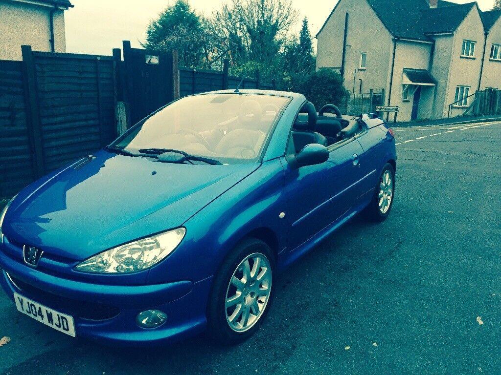 Blue Peugeot 206cc, full leather interior, MOT until September 3rd ...