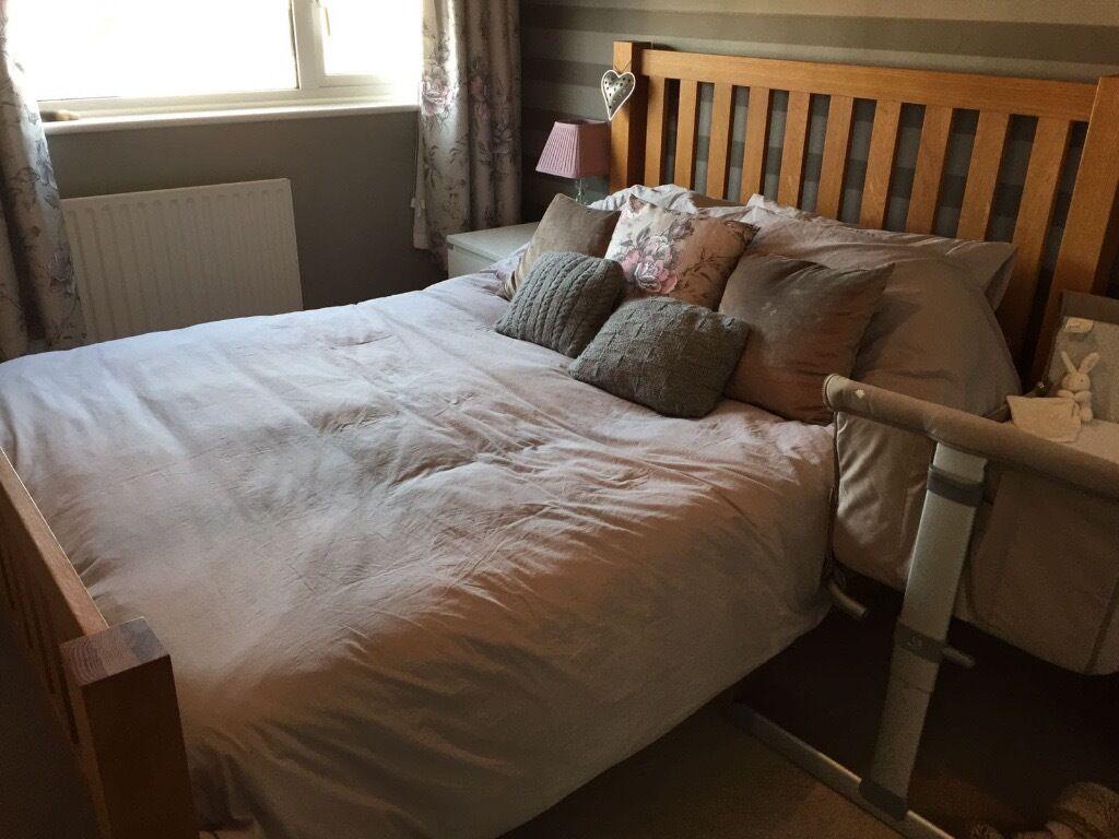Kingsbury oak wooden bed frame kingsize dreams solid for Dreams headboards