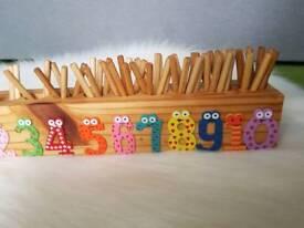 Handmade Wood Counter Montessori