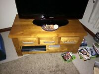 Coffee table/Tv unit in rose wood, very good condition, only 2 years old.