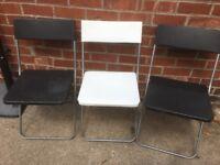 3 folding ikea chairs