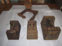 Antique Avery Weights 28lb Door Stop & Cobblers Cast Iron Shoe garden ormament