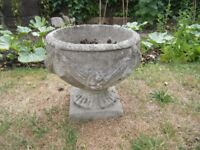 TWO GARDEN URNS FOR SALE