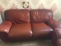 3+1+1 seater leather sofa