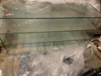 Glass shelves unit