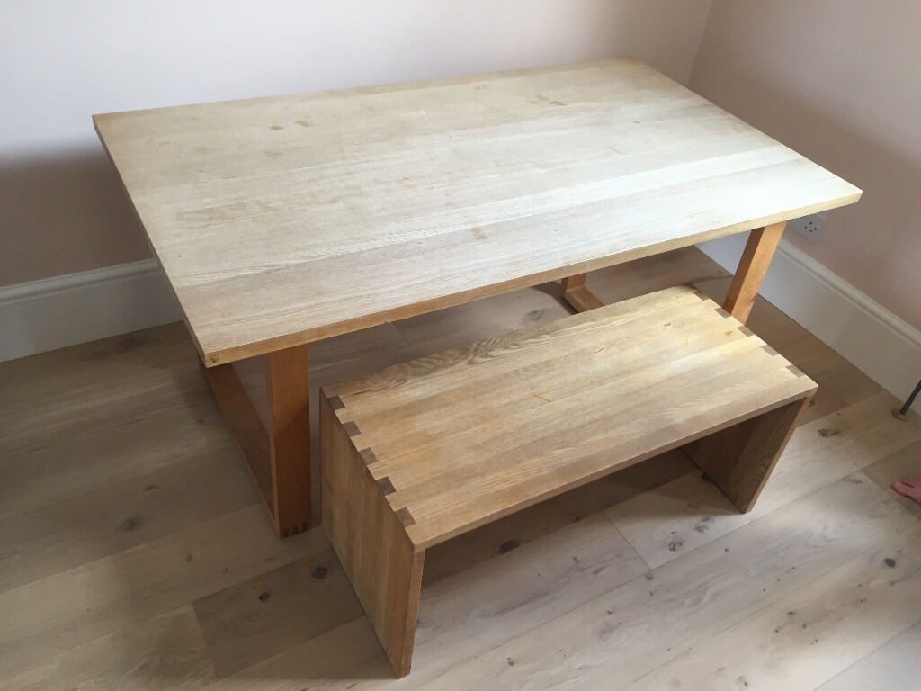 Muji Classic Kitchen Wooden Family Dining Table 100 Free Bench