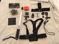 Go Pro Hero 3 Silver with Accessories and 16GB Memory Card