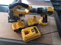 Dewalt 18v Kit - Jigsaw and Combi Drill