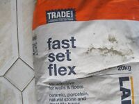 FAST SETTING FLEXIBLE TILE ADHESIVE, 20 KG UNOPENED PACK