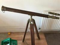 Old telescope on a stand