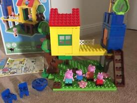 Peppa Pig treehouse construction set, boxed with instructions