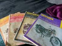 Haynes motorcycle manuals.