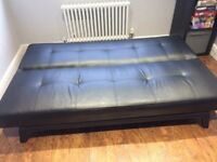 Yoko sofa bed - Black. Excellent condition. £40. Collection only.