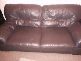 2 seater leather sofa and 3 seater leather sofa