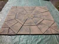 New octagon garden patio slab set with squaring kit