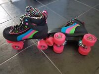Size 3 Girls Roller Boots