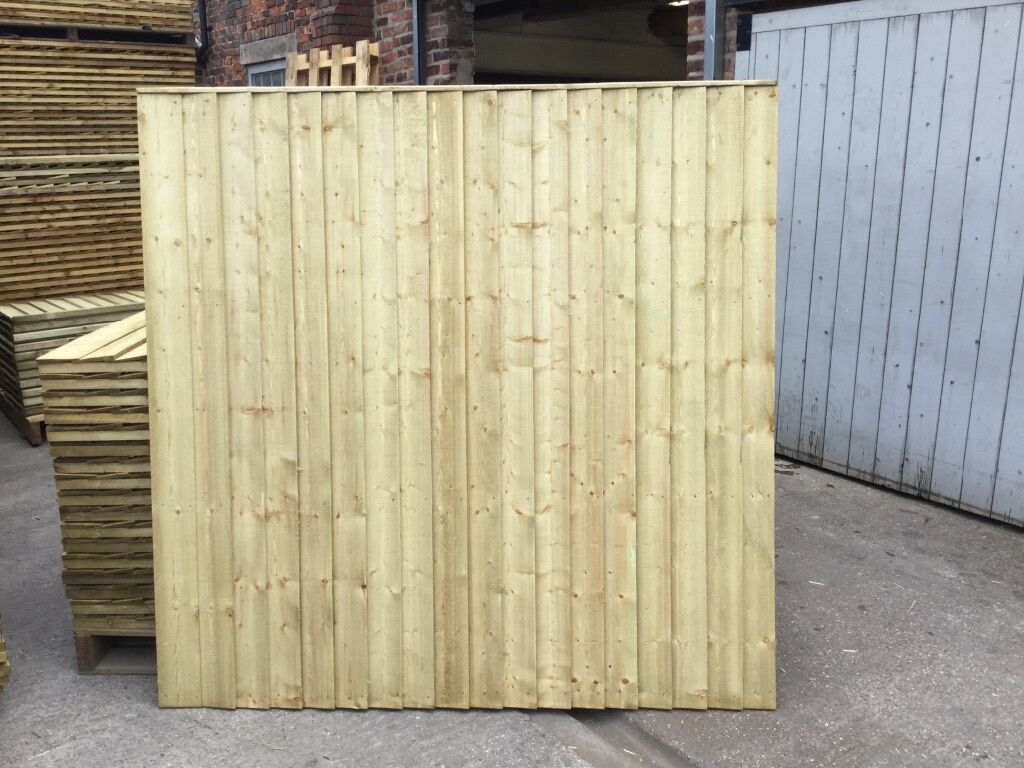 Marvelous photograph of HEAVY DUTY WOODEN FENCE PANELS TANALISED feather edge in Knutsford  with #887A43 color and 1024x768 pixels