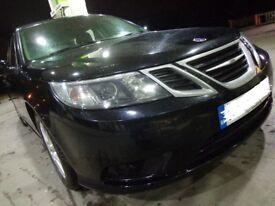 58 reg 1 owner black 6 speed saab 93diesel estate+mot jan+tax+black leathers+parking sensor+DELIVERY