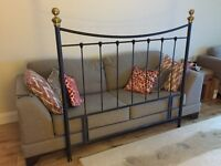 Wrought Iron Double Bed Head board -