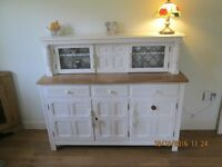 STUNNING LOOKING SIDEBOARD DRESSER BUFFET STYLE PAINTED LAURA ASHLEY COUNTRY WHITE